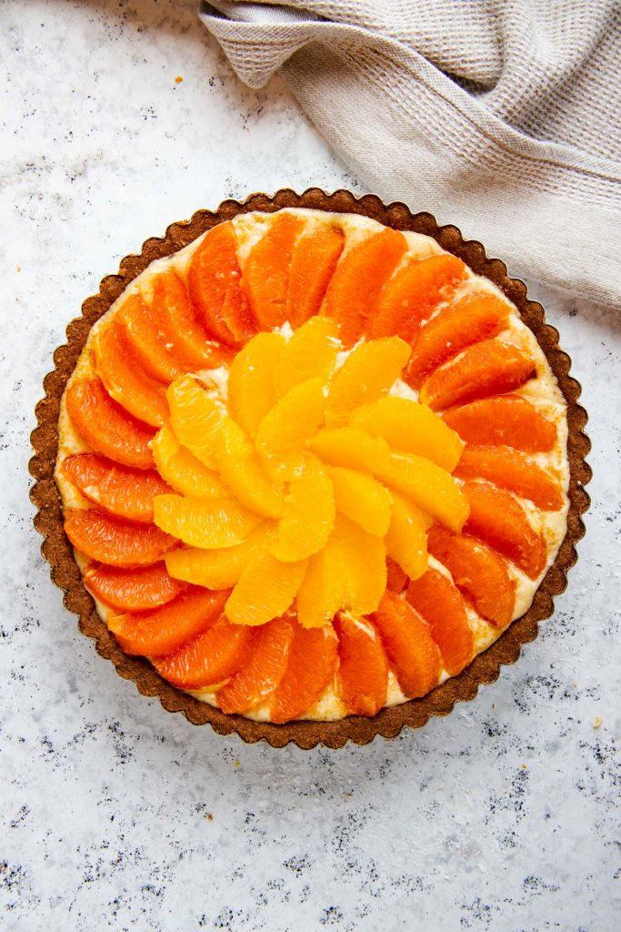 Prebaked Orange and Chocolate Almond Tart