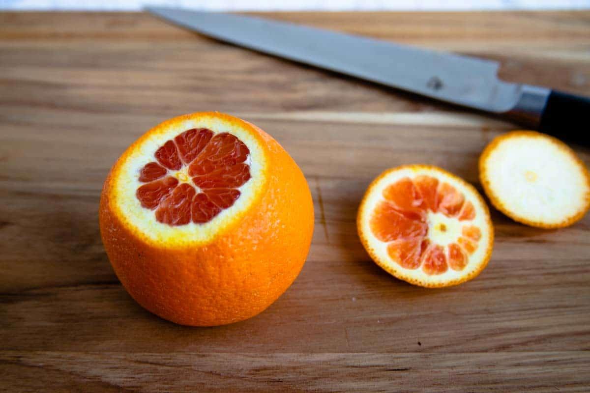 Cara Cara Orange with Top Cut Off
