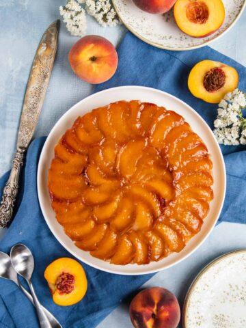 Peach Bourbon Upside-Down Cake