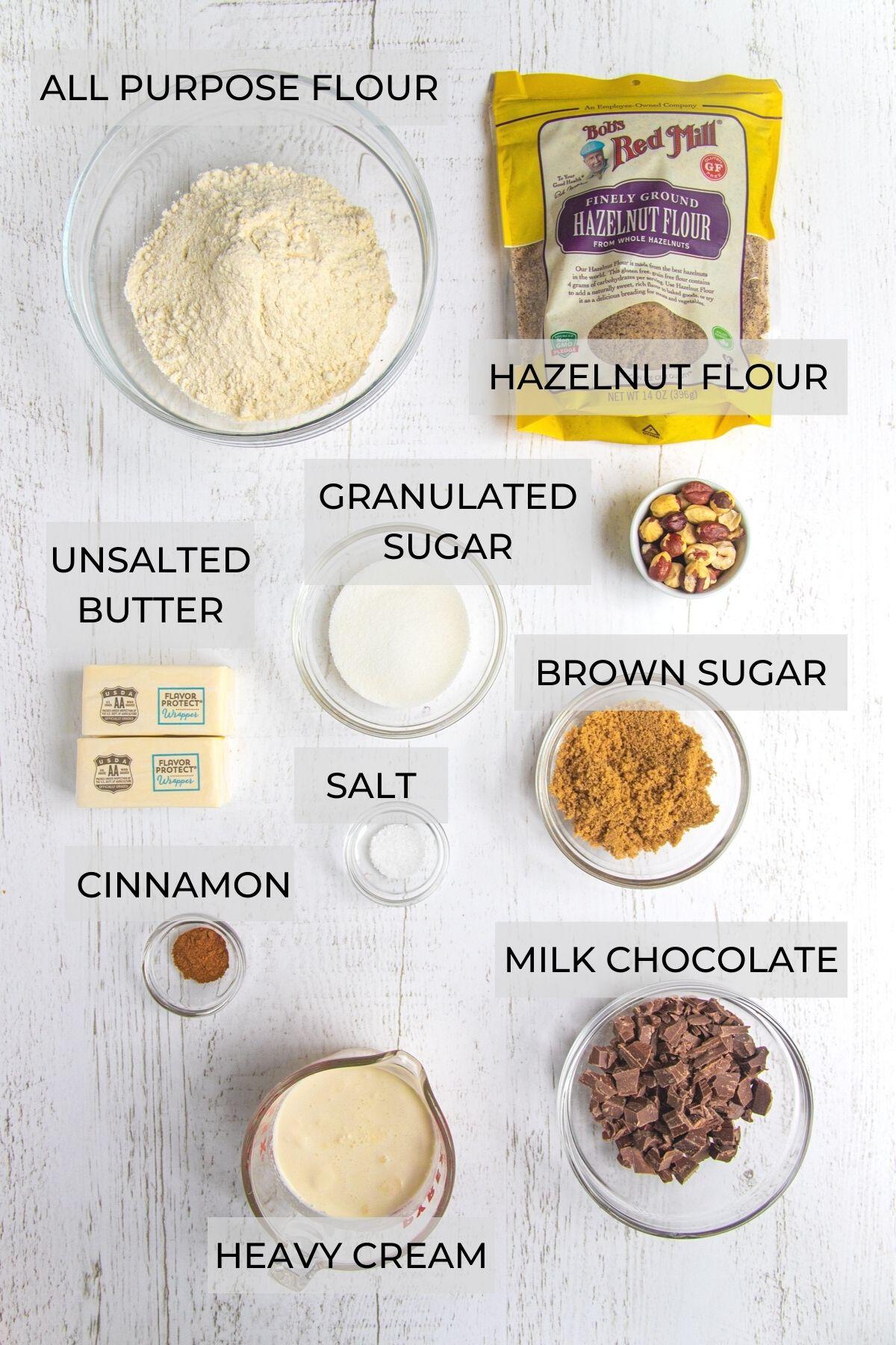 Hazelnut Chocolate Sandwich Cookies Ingredients